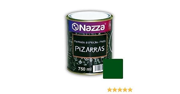 Pintura Pizarra para Paredes Nazza | Convierte tu pared en una pizarra | Fácil borrado y lavado | Color Verde | Envase de 750 ml.
