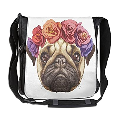 df92c65c3f98 60%OFF Lovebbag Floral Head Wreath On Head Of Pug Hand Drawn Cute Dog Image