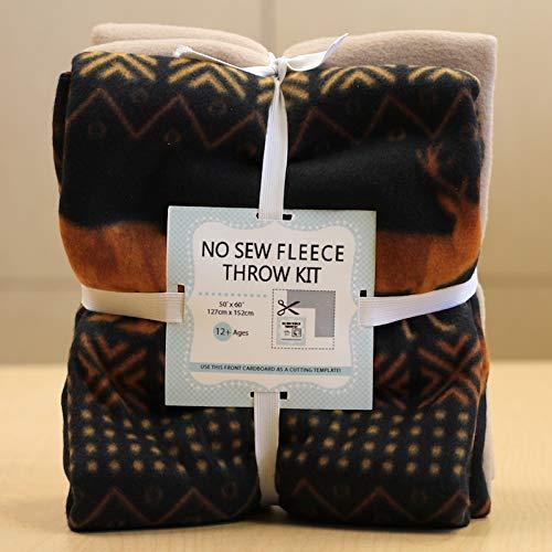 (Tribal Forest No-Sew Throw Fleece Fabric Kit (72x60))