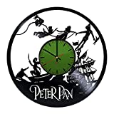"""modern bedroom ideas Peter Pan Vinyl Record Wall Clock - Get unique bedroom, kids room wall decor - Gift ideas for teens and youth ??"""" Cartoons Characters Unique Modern Art"""