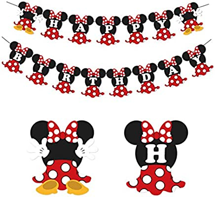 Amazon.com: Minnie Mouse - Pancarta para fiestas de ...