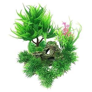 PietyPet-Decoracion-para-peceras-diseno-de-roca-de-resina-y-plantas-de-plastico-9-piezas-para-acuario-y-pecera