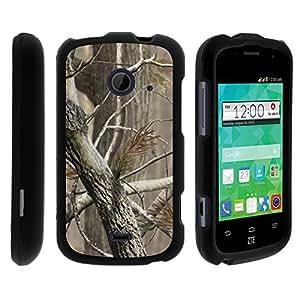 MINITURTLE Case Compatible w/ ZTE Whirl 2 Case, ZTE Prelude 2 Case, Perfect Fit Cell Phone Case Hard Cover w/ Cute Design Patterns for ZTE Flame, ZTE Zinger - Hunter Camo