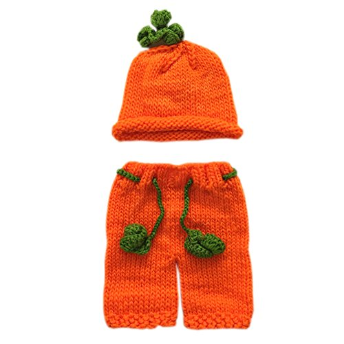 Pinbo® Baby Boys Girls Photography Prop Crochet Halloween Pumpkin Hat Shorts -