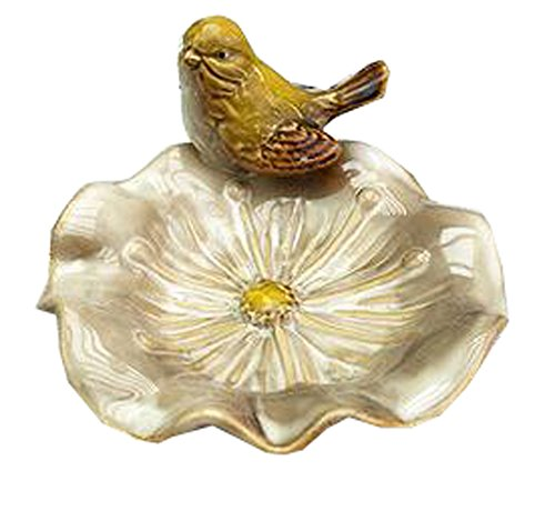 Multipurpose Ceramic Shower Soap Dish/Creative Soap Holder/Jewelry Decorative Dish/Ashtray (Bird-4)