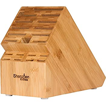20 Slot Bamboo Universal Knife Block Without Knives. Knife Storage Organizer  And Holder By Shenzhen