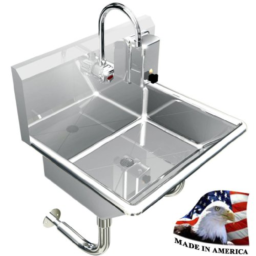 """HAND SINK ELECTRONIC FAUCET 24"""" HANDS FREE HEAVY DUTY 304 STAINLESS STEEL LAVABO"""