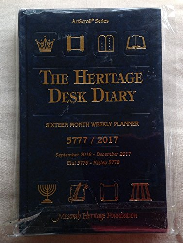 The Heritage Desk Diary: Sixteen Month Weekly Planner, September 2008-December 2009 (ArtScroll Series, September 2007-December 2008)