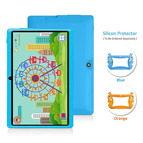 7 Android Kids Tablet PC Childrens Tablet Kids Edition Tablet Quad Core Kids Tablet with WiFi Camera 1GB + 16GB Parental Control (Blue)