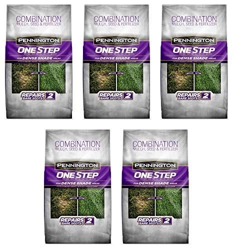 Pennington 100520284 One Step Complete Bare Spot Repair Grass Seed Mix for Dense Shade Areas, 8.3 lbs (Fіvе Расk)