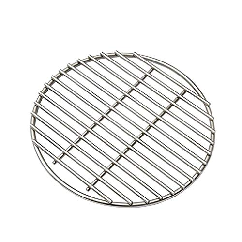 BBQ High Heat Stainless Steel Charcoal Fire Grate Fits for Kamado Joe Big Joe Grill Fire Grate and Other Grill Parts Charcoal Grate Replacement Accessories ()