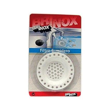 Brinox B70930E Filtro sumidero Acero Inoxidable Grande Ø 72 mm: Amazon.es: Hogar