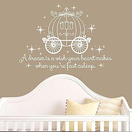 Amazon.com: Wall Decal Decor Cinderella Quote - A dream is a ...