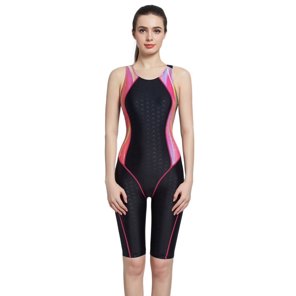 PHINIKISS One Piece Swimsuit Women Colorful Bodysuit Athletic Swimwear