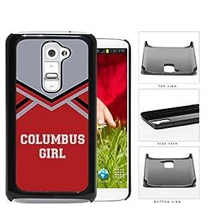 Columbus City Girl School Spirit Cheerleading Uniform LG G2 Hard Snap on Plastic Cell Phone Cover by Maris's Diary