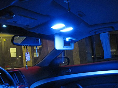 Ijdmtoy 10 10 smd 168 194 2825 w5w led replacement bulbs - Blue light bulbs for car interior ...