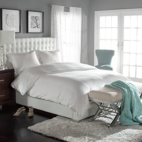 Clearance Sale - White Luxury Cool Touch Soft Tencel Lyocell Duvet Set  White Oversized King 108