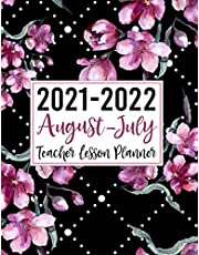 2021-2022 Teacher Lesson Planner: At a Glance Weekly and Monthly Teacher Planner and Calendar: | Lesson Plan Grade and Record Books for Teachers 2021-2022 Academic Year | Large Teacher Planner August 2021-July 2022 (Stylish Watercolor Pink Flowers)