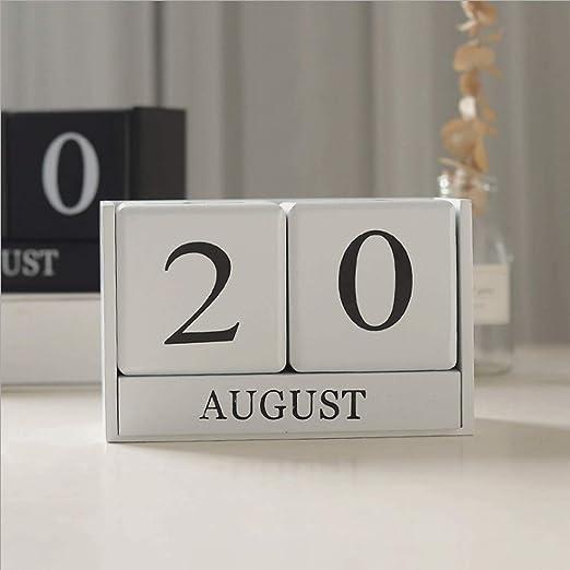 Rodciy Mesa de Escritorio Creativa de Madera Calendario Calendario ...