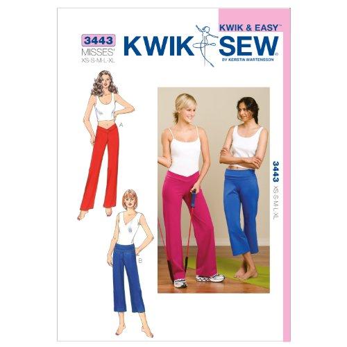 Kwik Sew K3443 Pants Sewing Pattern, Size XS-S-M-L-XL by KWIK-SEW PATTERNS