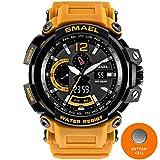 #2: SMAEL NEW Military Watch Waterproof 50M S Shock Resistant Sport Watches Digital Clock Men Military Army Big Men Watch Sport 1702 Series (Orange)