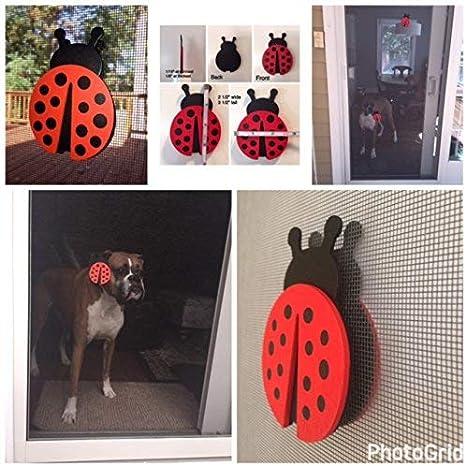 No More Accidental Screen Door Crashes! Ladybug Screen Door Saver Magnets