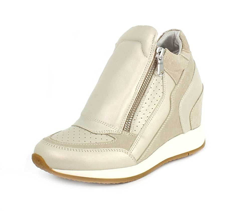 Geox Damen Sneakers D Nydame PlatinumLt Taupe D620QA 04422