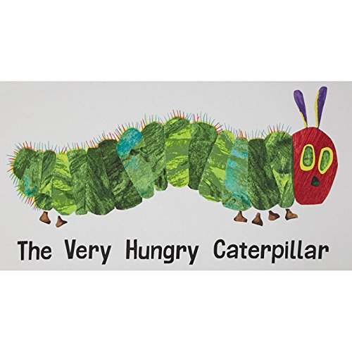 Caterpillar Hungry Fabric - The Very Hungry Caterpillar Giant 23 In. Panel White Fabric