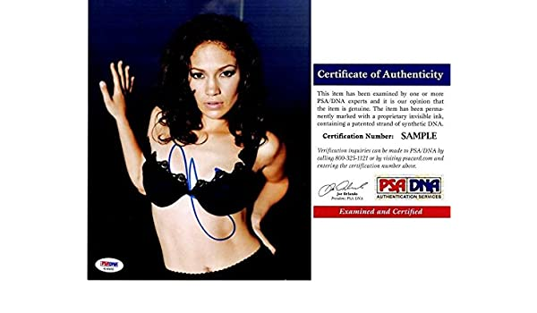 8d20106c44b Jennifer Lopez Signed - Autographed Singer - Actress 8x10 inch Photo - J.Lo  - Certificate of Authenticity (COA) - PSA DNA Certified at Amazon s ...