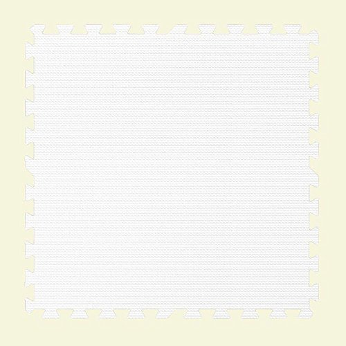 WHITE 24 in. x 24 in. Comfortable Mat (100 sq.ft. / Case) by Groovy Mats