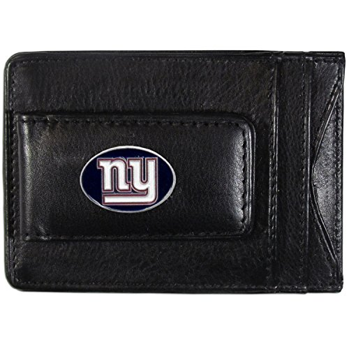 NFL New York Giants Leather Money Clip Cardholder -