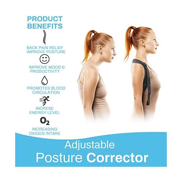 Correcteur De Posture Dos,Posture Correcteur Dos,Correcteur de posture pour Hommes et Femmes de soutien du dos réglable