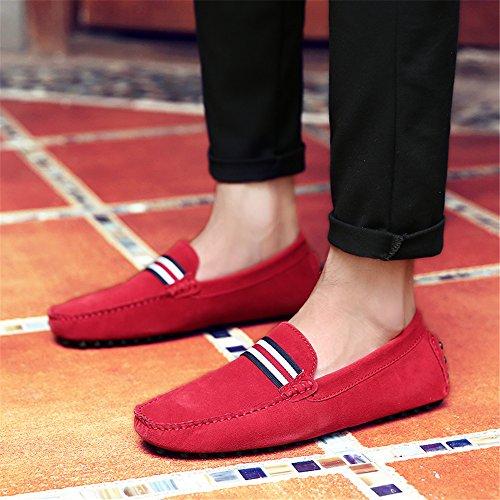 Pantuflas Rojo Aardimi Hombre Caucho De Y Mocasines wBwYOqnTS