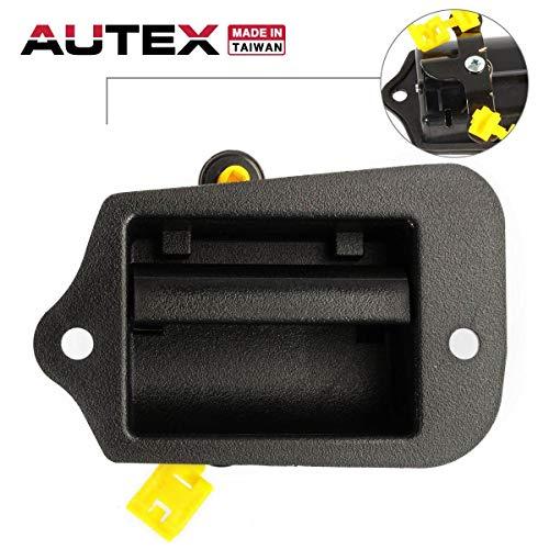 AUTEX Black Exterior Rear Left Driver Side Door Handle Compatible with Chevrolet S10 95-03 Replacement for GMC Sonoma 96-03,Isuzu Hombre 1998 74300 15760310 19211052 GM1552101