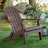 Coral Coast All Weather Resin Wood Adirondack Chair Chocolate Brown
