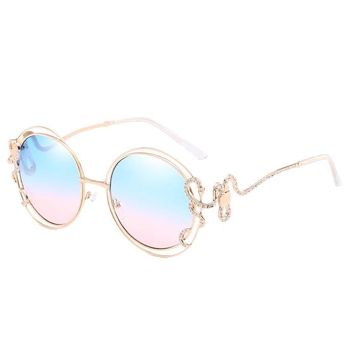 Zhhlaixing Moda Gafas de Sol Redondas de Gran Tamaño Nuevas ...