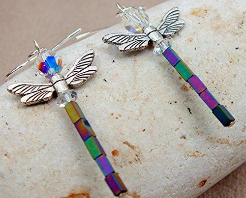 Dragonfly Metallic Hematite Earrings