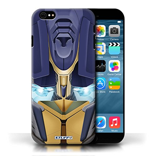 Etui / Coque pour Apple iPhone 6/6S / Opta-Bot Jaune conception / Collection de Robots