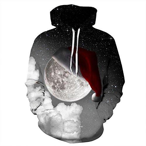Bts Wearing Halloween Costumes (Haocloth Unisex 3D Digital Print Pullover Hoodie Print Hooded Sweatshirt 3D Christmas Hoodies)
