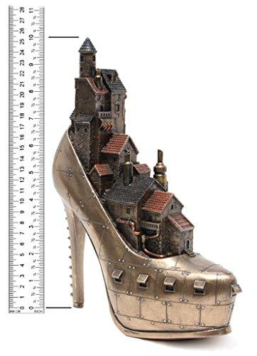 Steampunk Stiletto Hill Ironopolis Cold Cast Bronze 10 Inch Tall 4