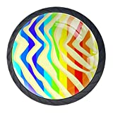 zebra dresser knobs - Idealiy Rainbow Zebra Print Drawer Pulls Handles Cabinet Dressing Table Dresser Knob Pull Handle with Screws 4pcs