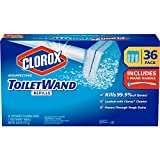 Clorox ToiletWand, 36 Disinfecting Refills + 1 ToiletWand Handle