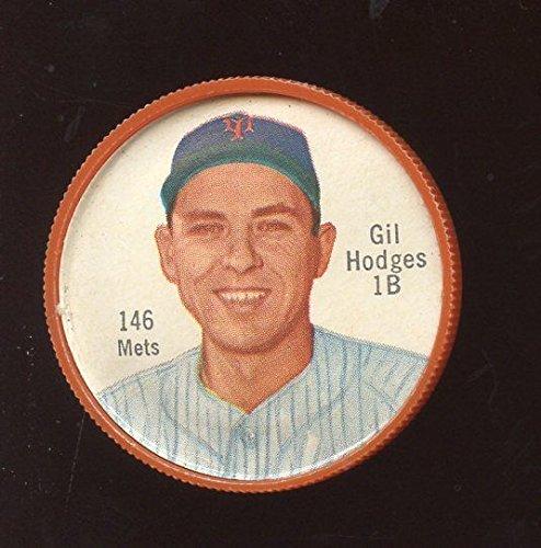 1962 Salada Baseball Coin #146 Gil Hodges New York Mets NRMT (Salada Baseball Coins)