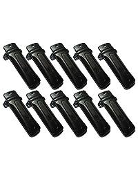10 x Clip de cinturón para radio Kenwood tk-290 tk-390 tk-480 tk-481 tk-190 tk-2302 tk-3302 tk-2402 tk-3402 tk-272g tk-372g TK-2180 TK-3180 KBH-10