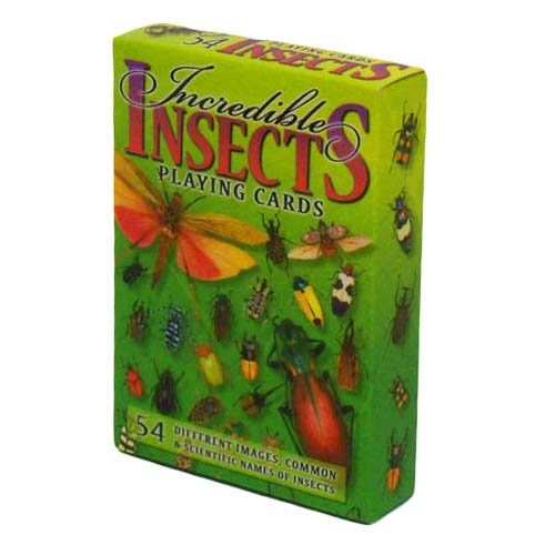 Incredible Insects Playing Cards - Deck of 54 Cards (Insect Playing Cards)