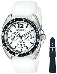 Nautica Men's NAD11521G Nautica Sport Ring Gift Set Analog Display Quartz White Watch