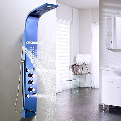 Hlluya Grifo Cocina Lavabo de Baño Acero Inoxidable climatizada Multi-función de mampara de Ducha Completo Kit de Limpieza automática Todo-en-uno Spray Cascada Inteligente taps,: Amazon.es: Hogar
