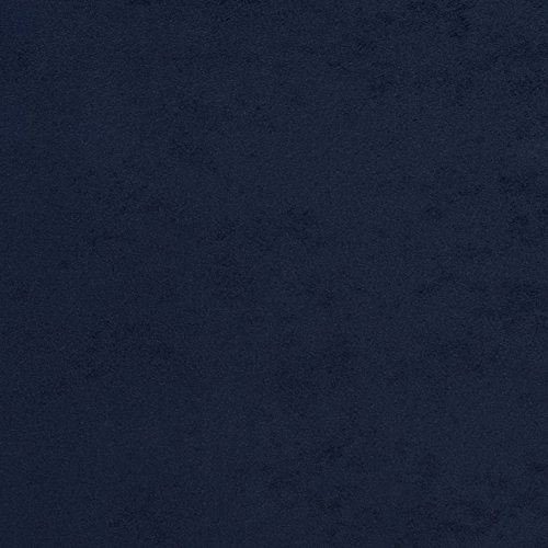 Navy Dark Blue Plain Solid Microfiber Microsuede Fade Resistant Upholstery Fabric by the yard