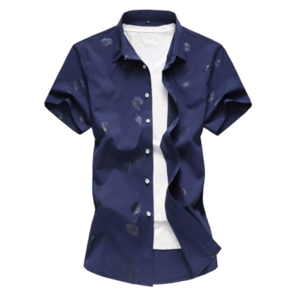 NANSHIZSCS Camisa de hombre Camisa De Hombre Casual Summer Print ...