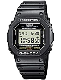 Men's G-Shock Quartz Watch with Resin Strap, Black, 20 (Model: DW5600E-1V)